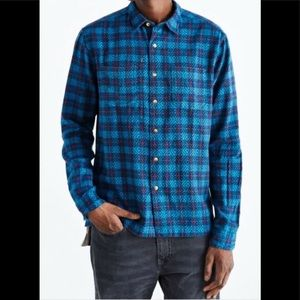 urban outfitters KOTO button down flannel blue XL